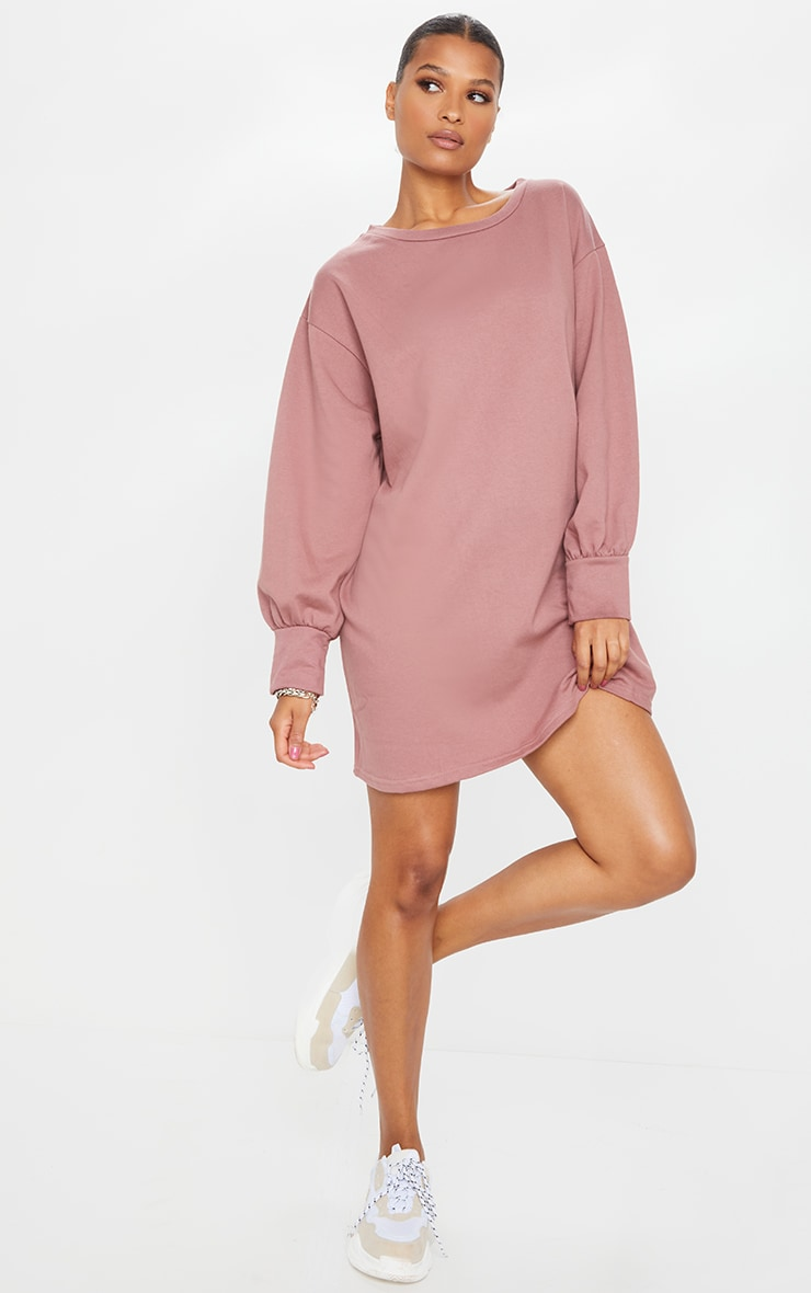 Dark Mauve Oversized Sweater Dress 3