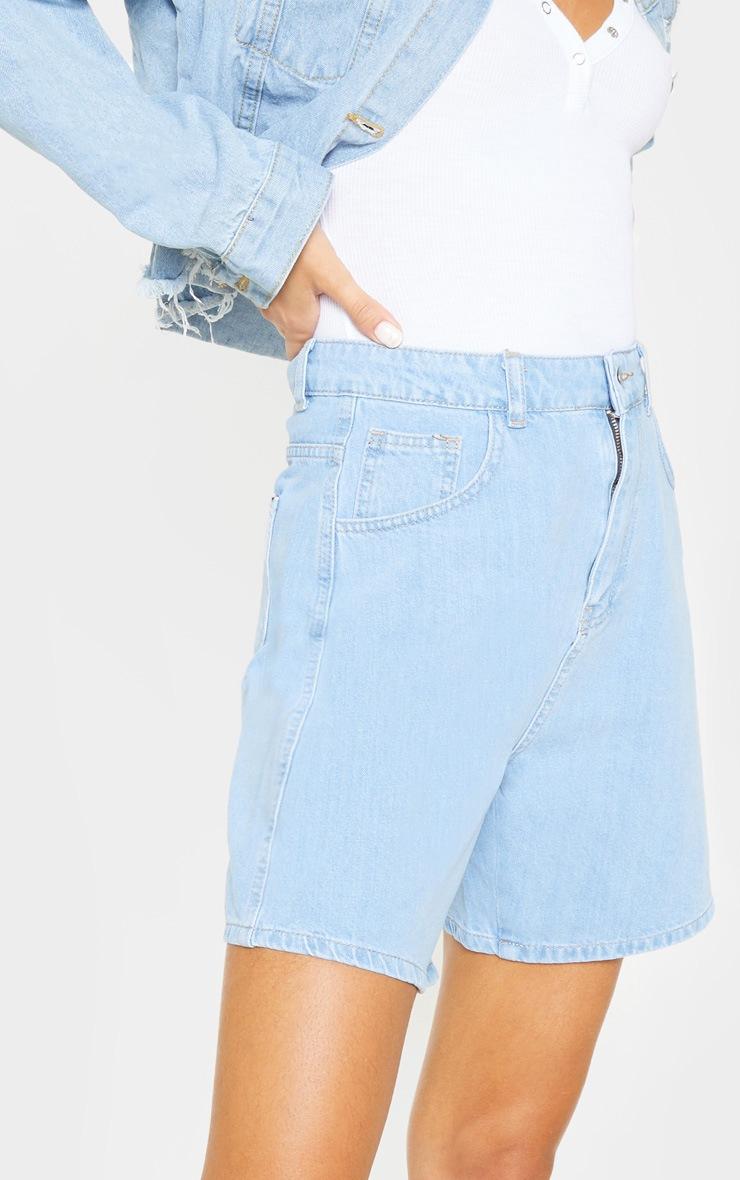 Tall Light Wash Denim Mom Shorts 6