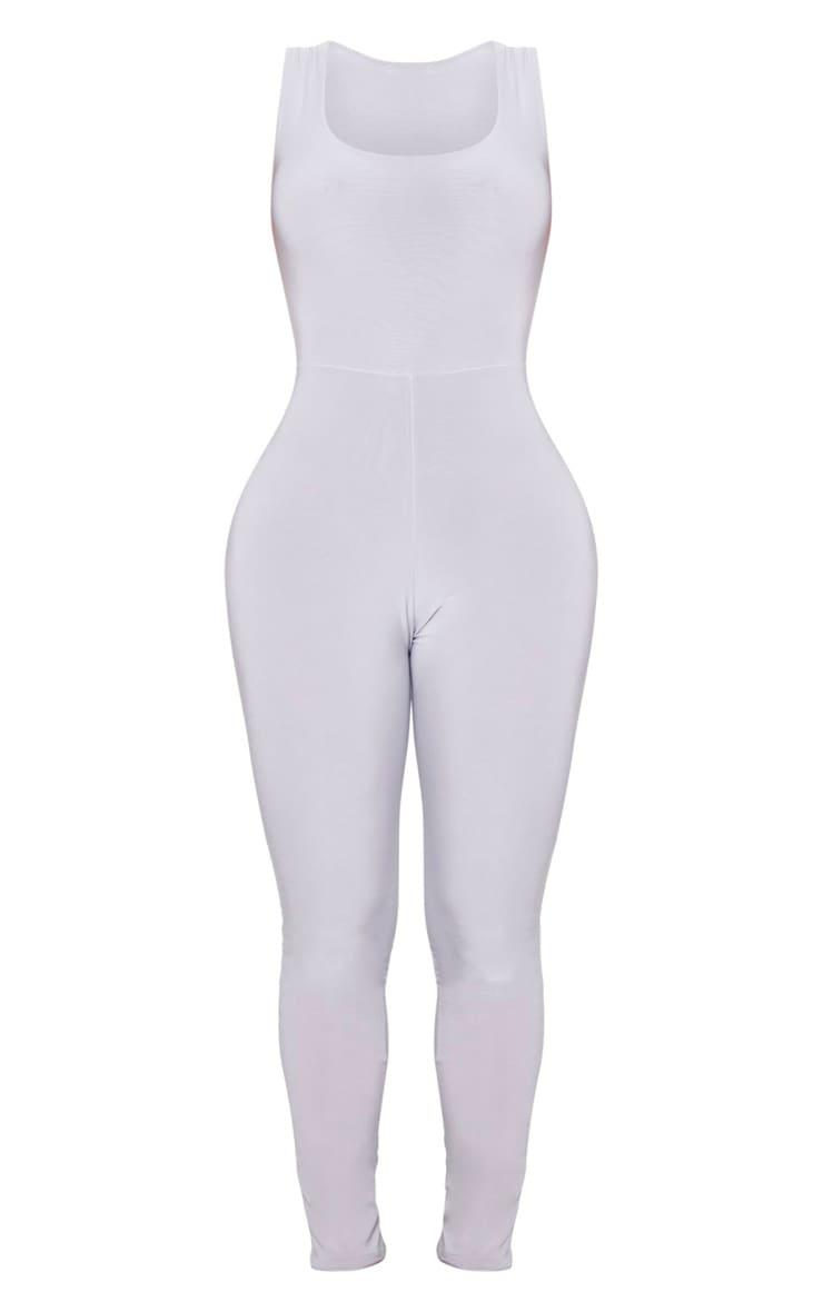 Shape Grey Slinky Ruched Bum Jumpsuit 5