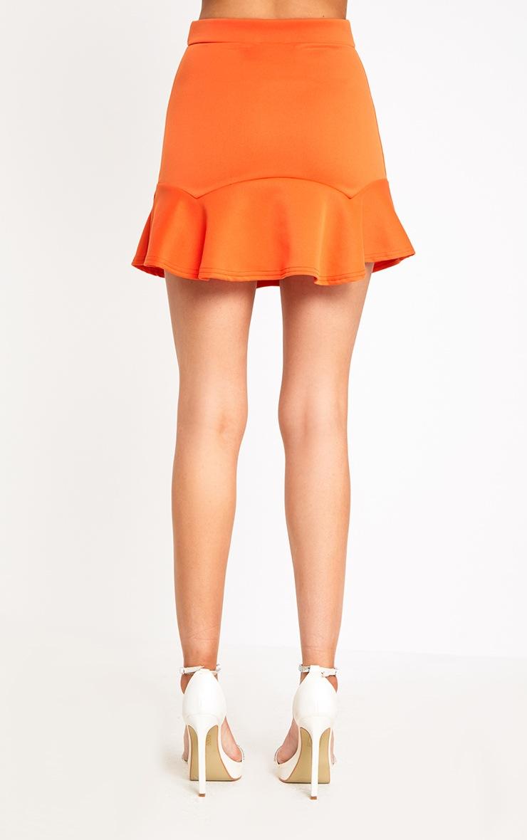 Bright Orange Flippy Hem Mini Skirt 4