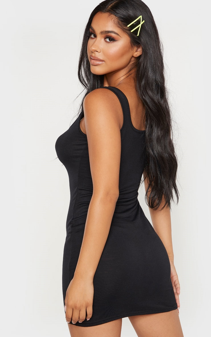 Petite Black Jersey Mini Dress 2