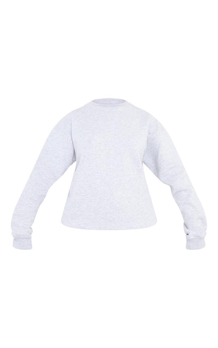 Tall Grey Marl Ultimate Oversized Sweatshirt 5