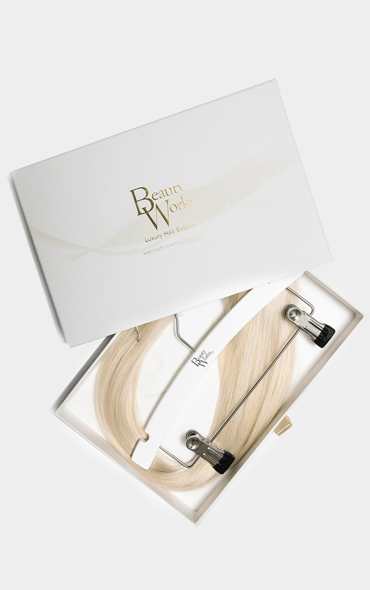 Beauty Works Double Hair Set Weft 18 Inch Pure Platinum 50 Grams 1