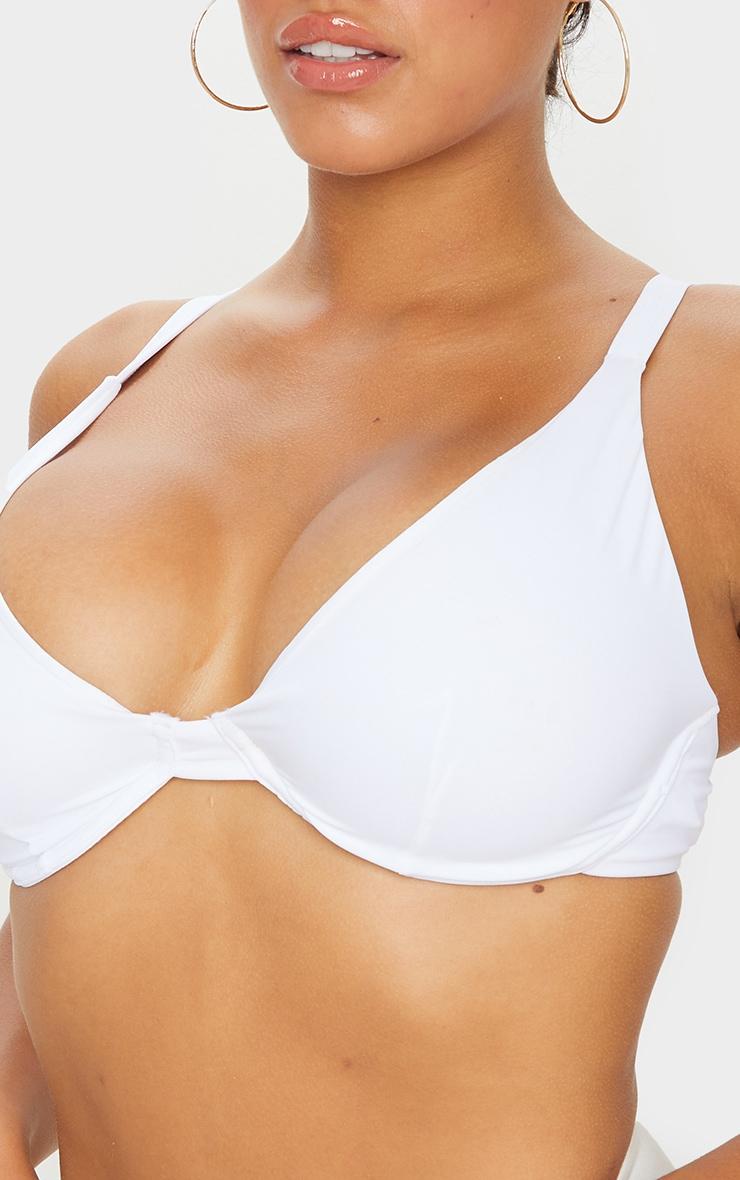 White Fuller Bust Underwired Bikini Top 4