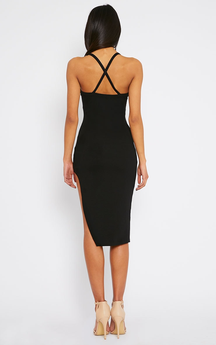 Tyler Black Chain Strap Bodycon Dress 2