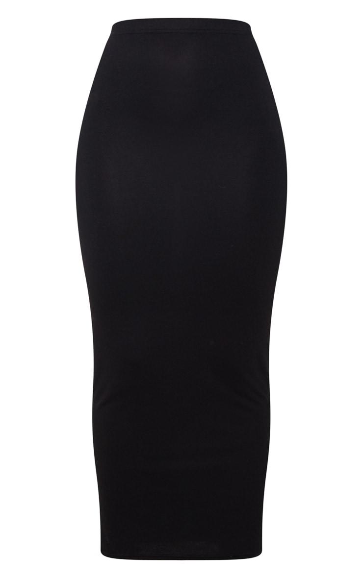 Black Basic Maxi Skirt 7