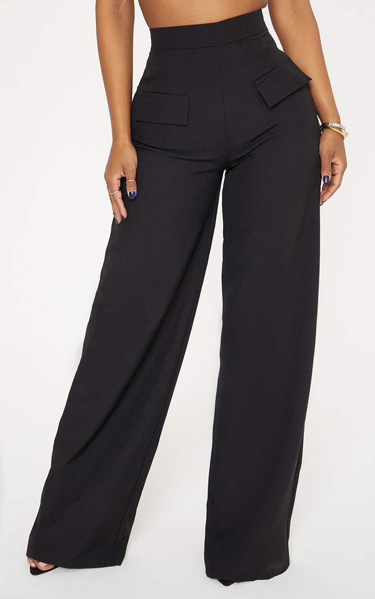Shape Black Cargo Wide Leg Trouser 2