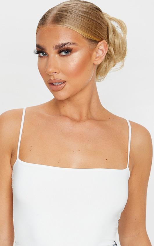 LullaBellz Premium Messy Bun Hair Up Scrunchie Warm California Blonde 2