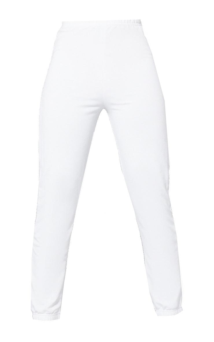 Tall White Basic Cuffed Joggers 5
