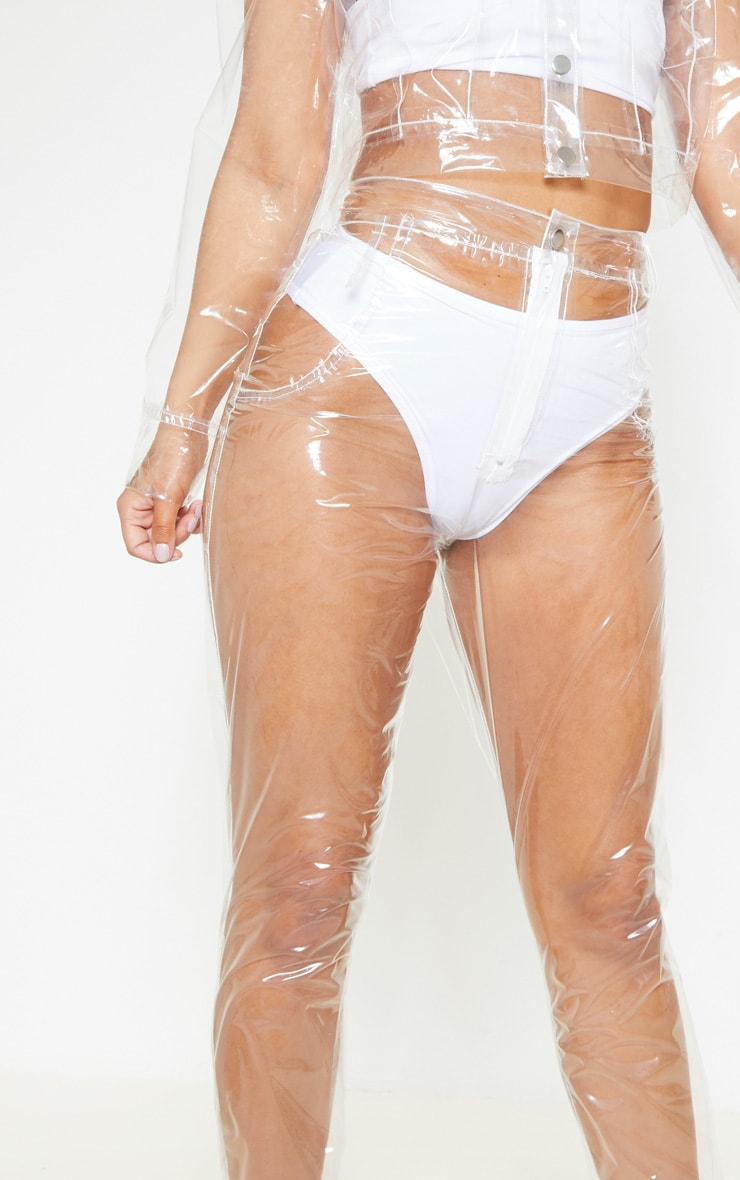 Petite Transparent Straight Leg Trousers 5