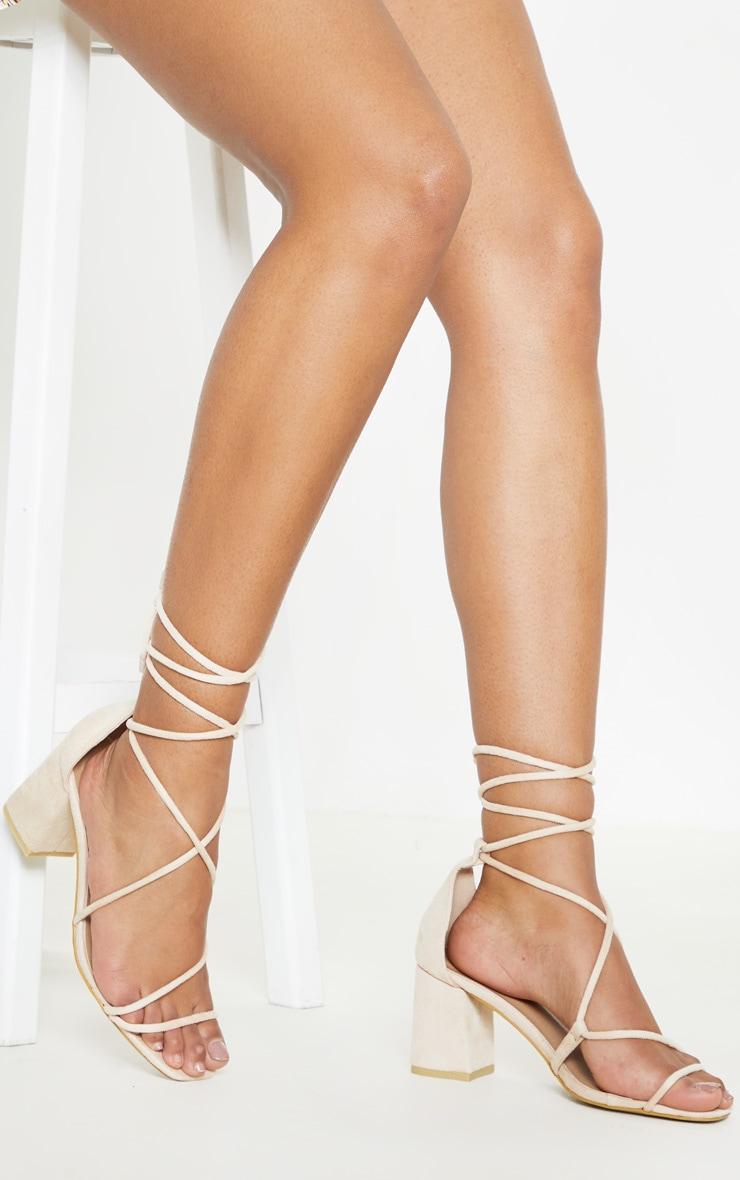 Nude Block Heel Sandal 1