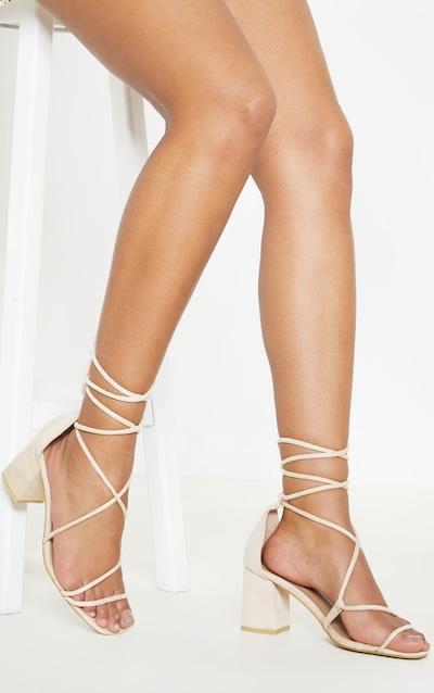 e5059956c9b Nude Block Heel Sandlal