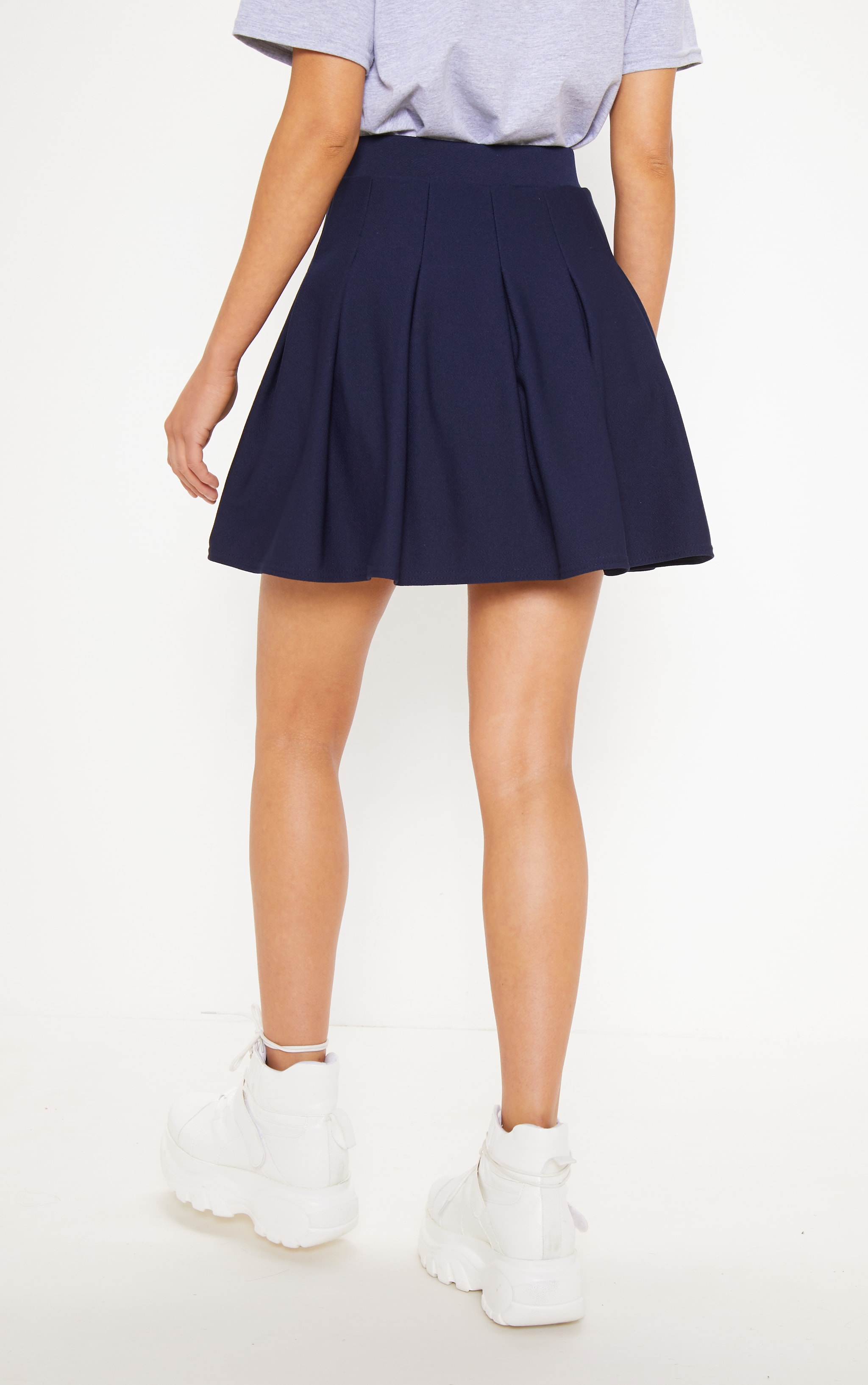 Navy Pleated Tennis Skirt 3