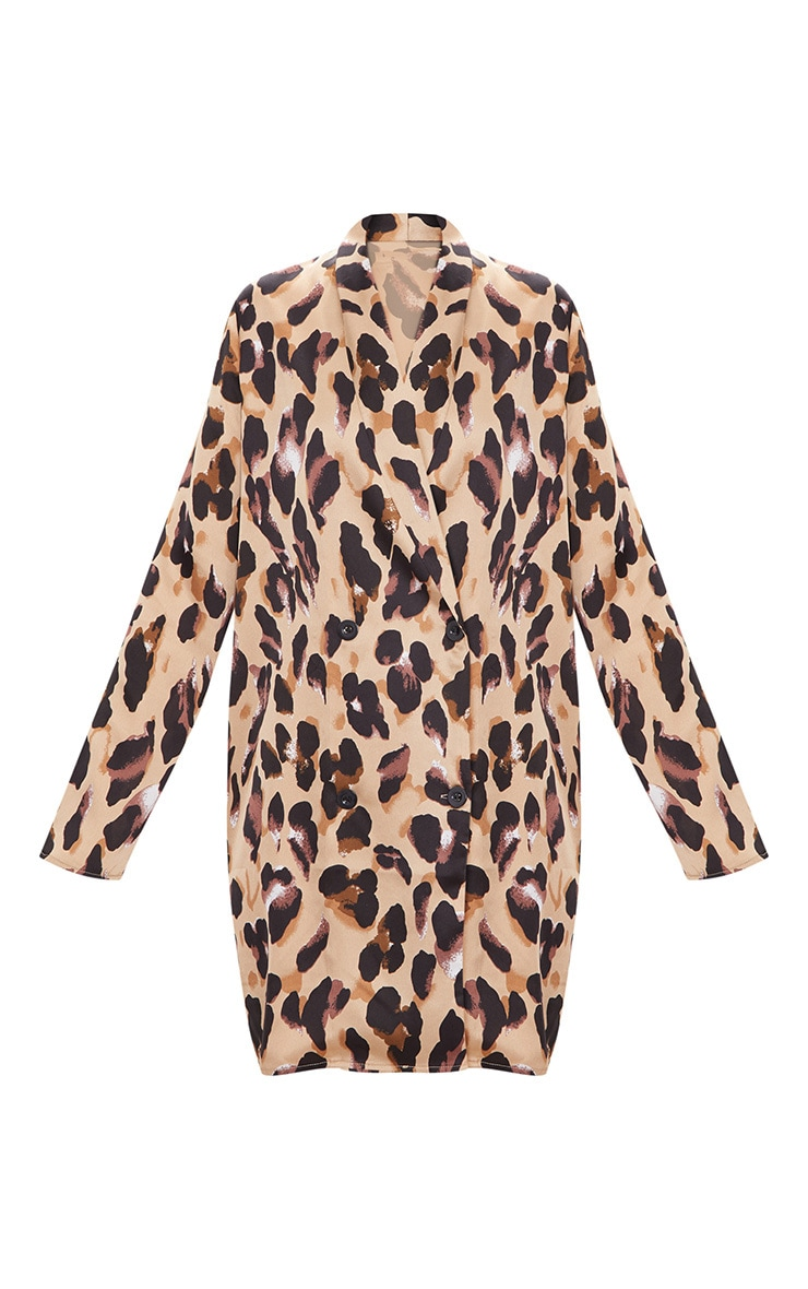Leopard Oversized Loose Fit Blazer  Dress 3