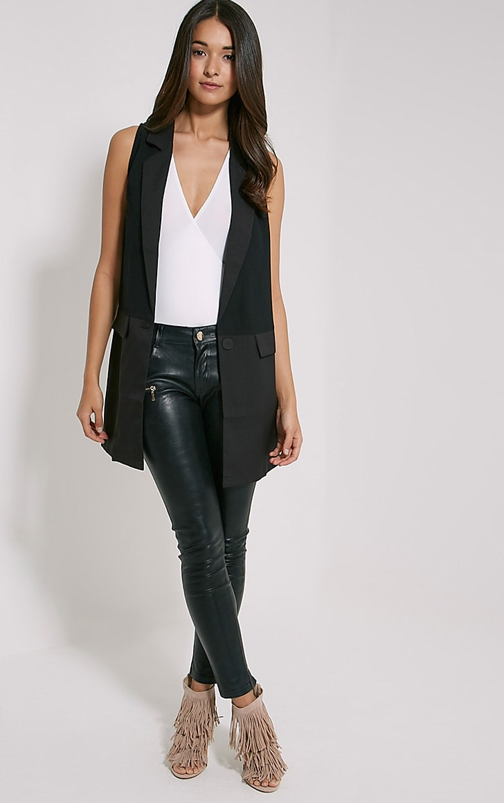 Vienna Black Sleeveless Blazer 3