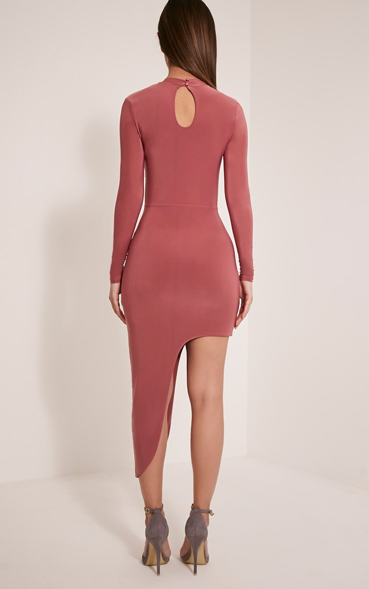 Avia Rose Cut Out Asymmetric Midi Dress 2