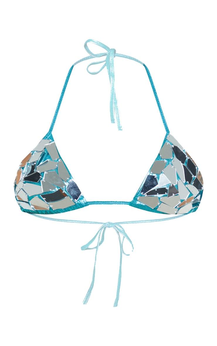 Metallic Mirror Bikini Top 4
