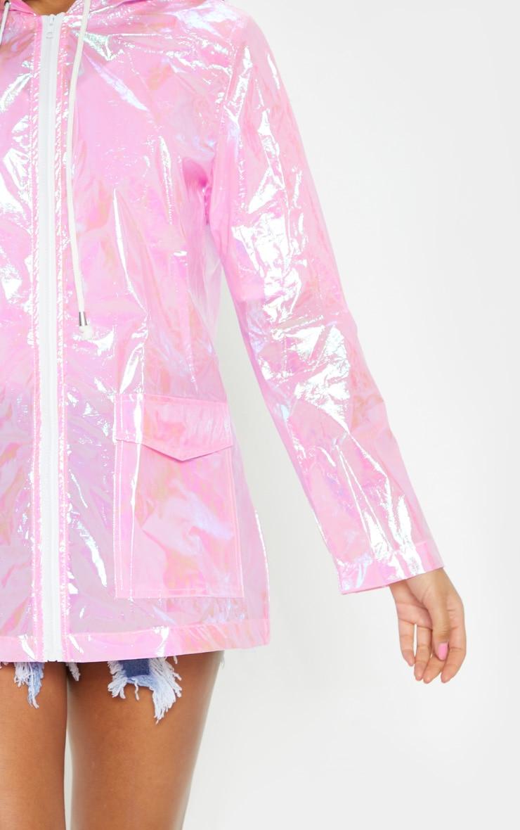 Cobie imper holographique rose 5