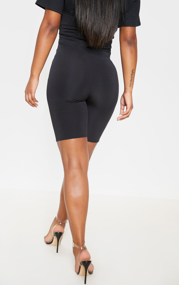 Black High Stretch Bustier Cycle Short  4