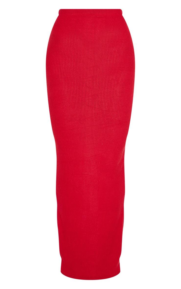 Scarlet Brushed Rib Midaxi Skirt 3