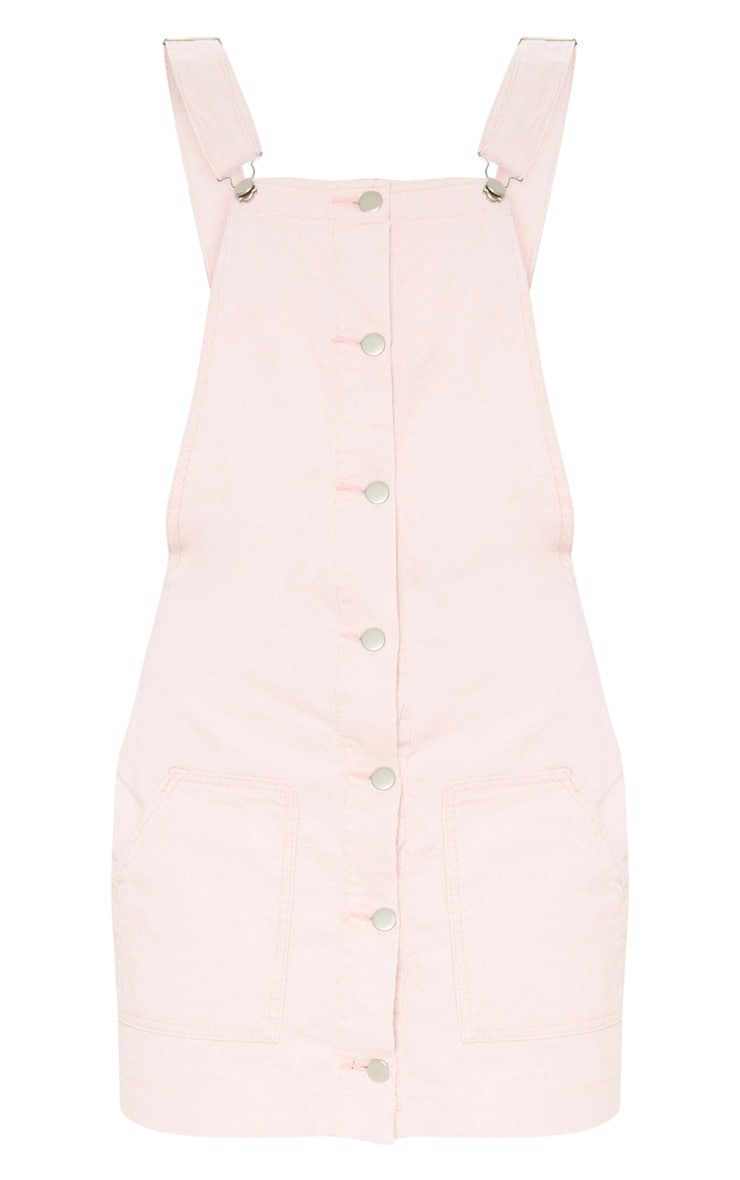 Dusty Pink Cord Pinafore Dress 3