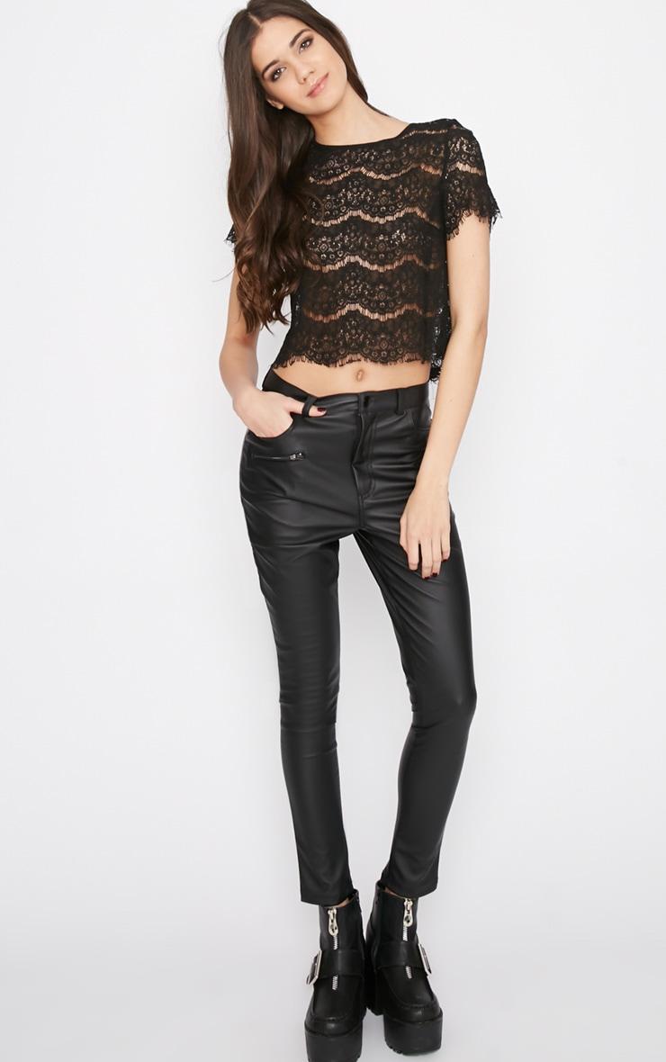 Ninette Black Lace Crop Top  3