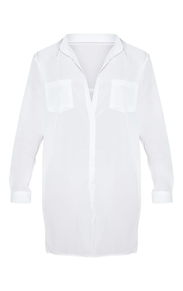 Effy White Shirt Dress 3