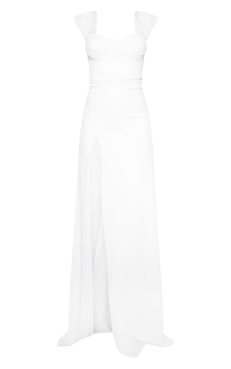 White Cup Detail Maxi Dress 3