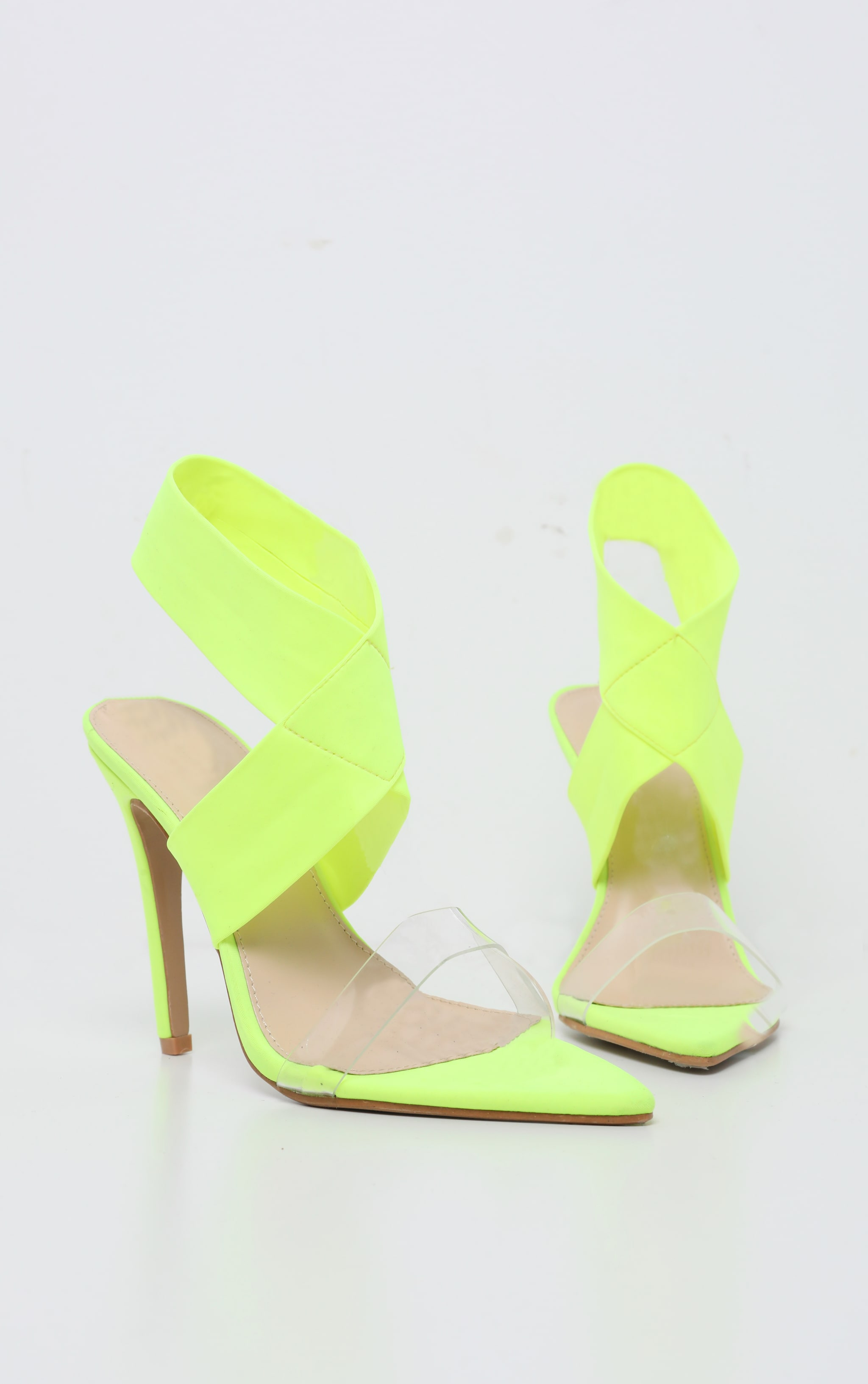 Lime Point Toe Lycra Slingback Sandal 4