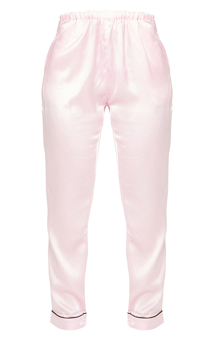Pink Satin Pocket Long PJ Set 6