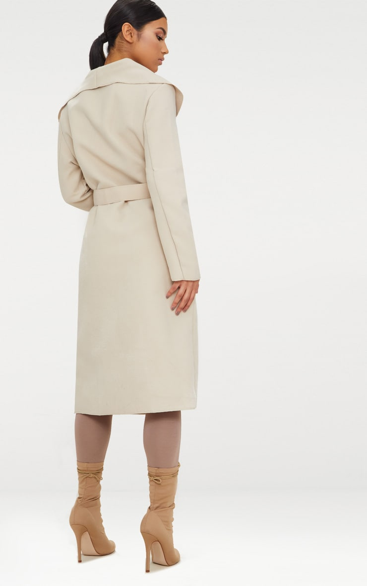 Veronica Beige Oversized Waterfall Coat 3