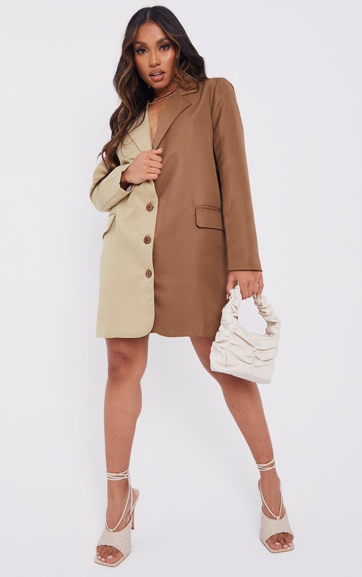 Petite Stone Contrast Oversized Blazer Dress 1