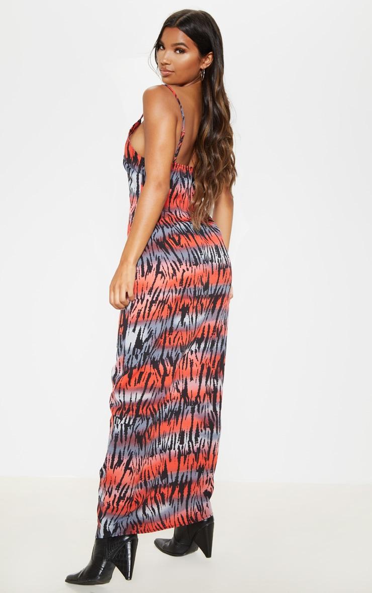 Multi Tiger Maxi Dress 2