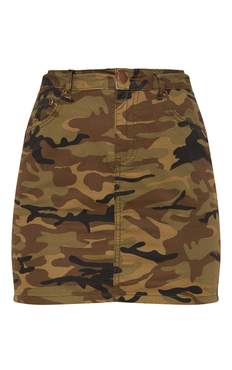Camo Denim Skirt  3