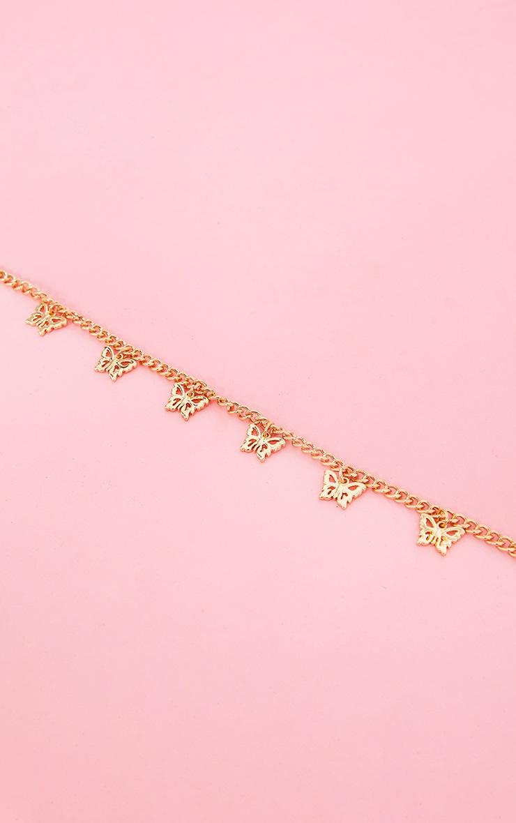 Gold Dainty Multi Butterfly Necklace 4