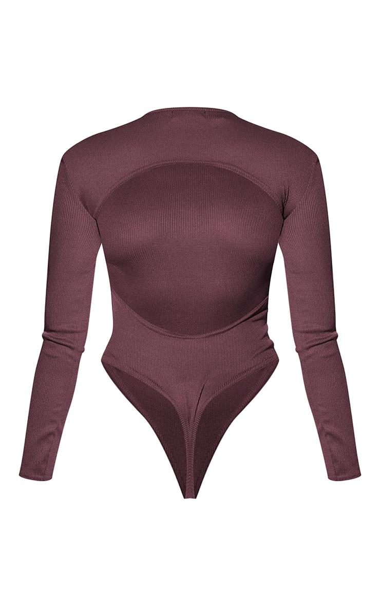 RENEW TallChocolate RibBackless Bodysuit 6