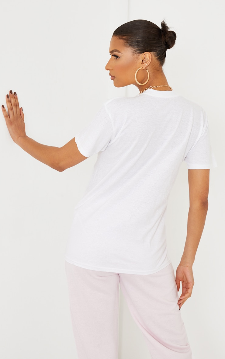 PRETTYLITTLETHING White Multi Embroidered T Shirt 2