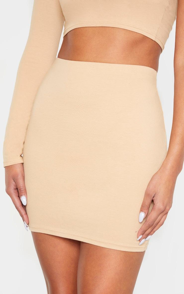Biscuit Cotton Mini Skirt 6