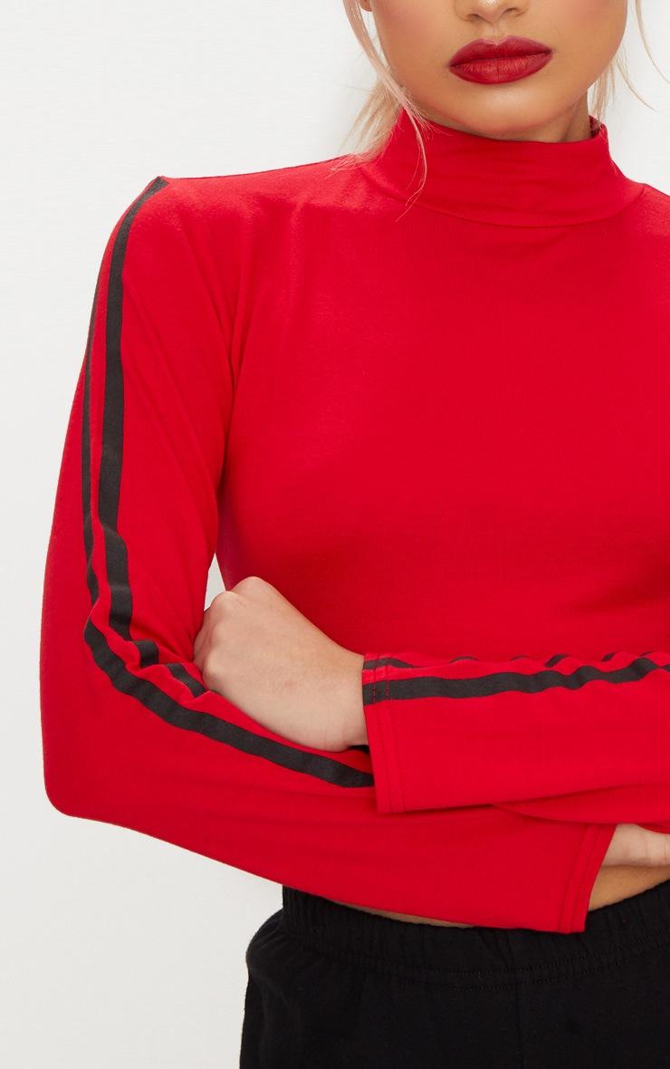 Red Stripe Long Sleeve Top 4