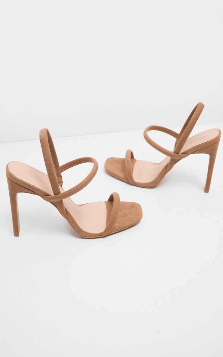 Sand High Heel Tube Strappy Sandal  3
