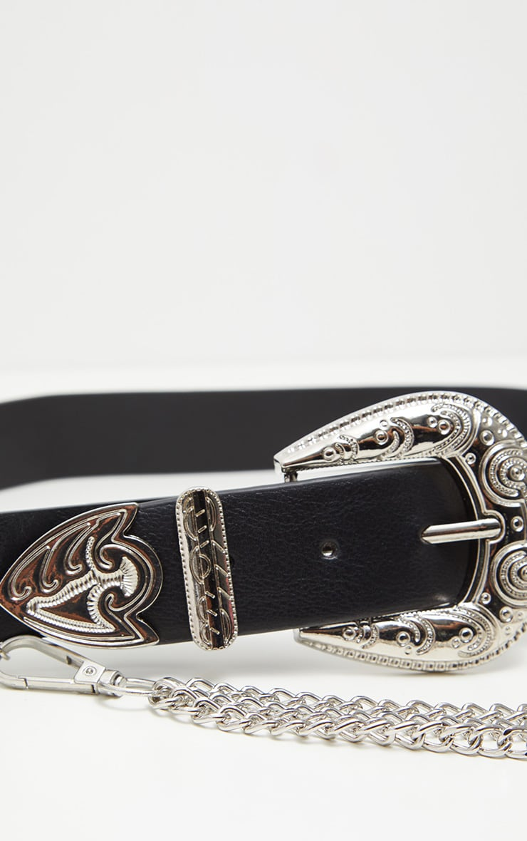 Black Western Chain Belt 4