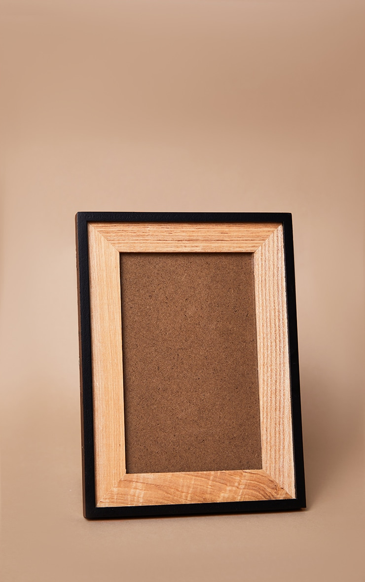 Black & Natural Wood Frame 3