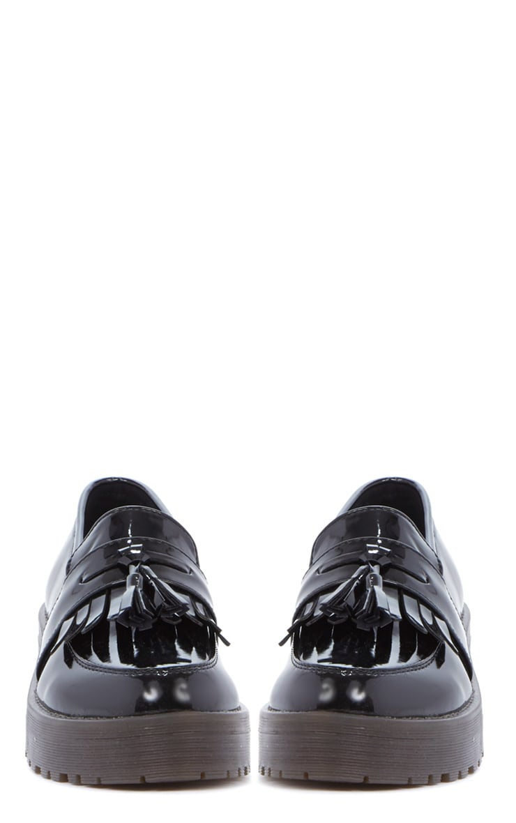 Charis Patent Black Chunky Loafer 4