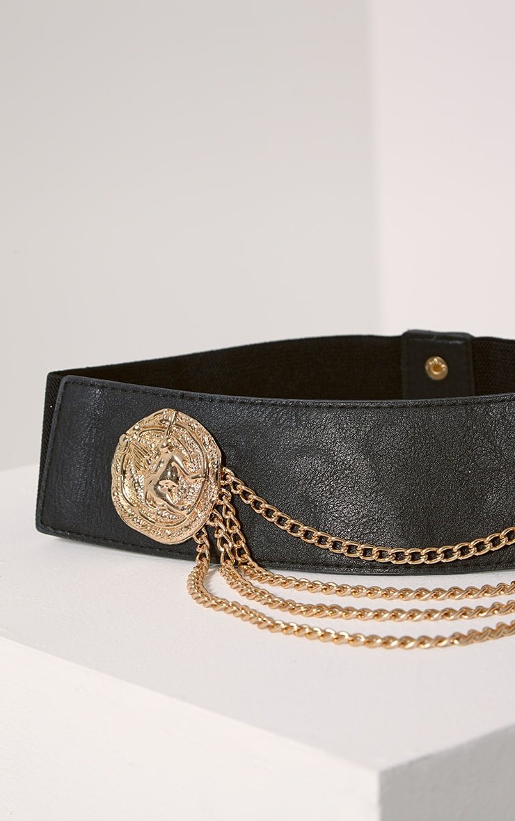 Erika Gold Drop Chain Belt 2