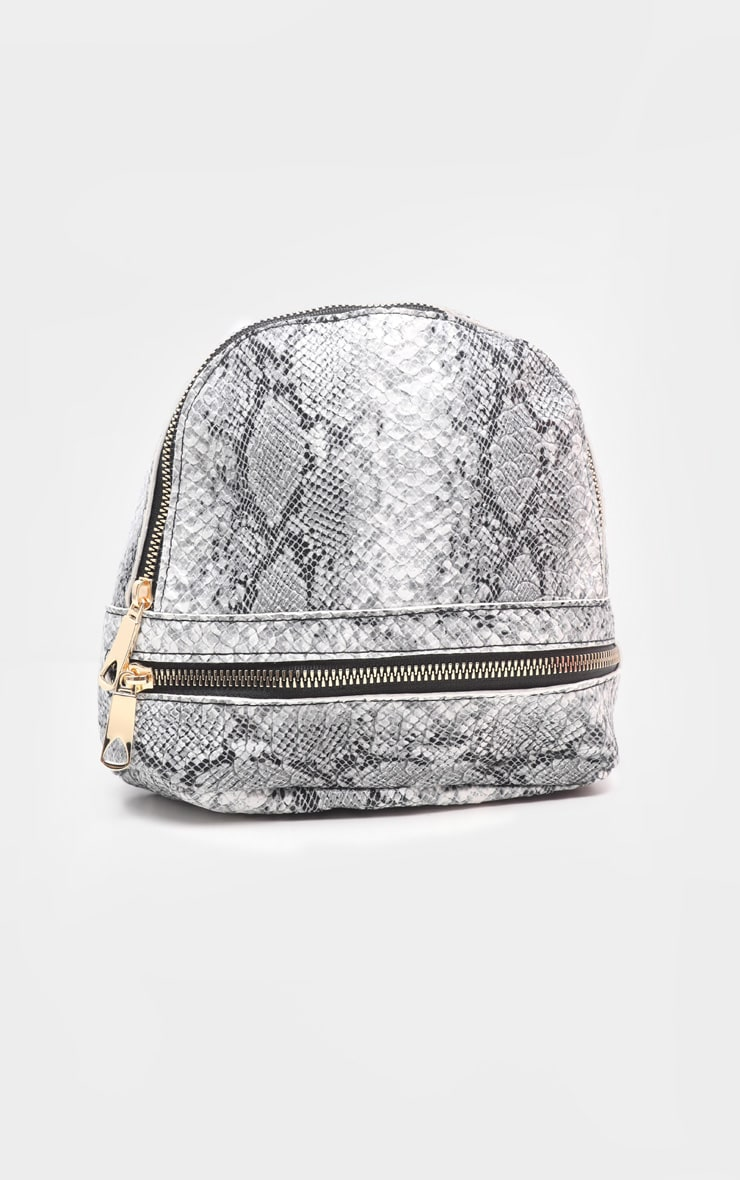 Grey Snake Mini Backpack 3
