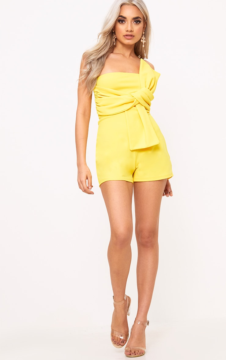 Yellow Bow Bardot Playsuit 4