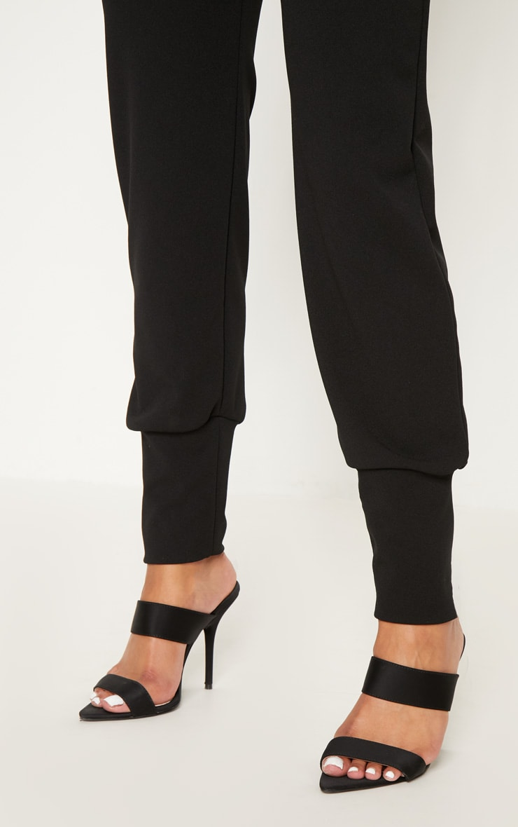 Black Deep Cuff Detail Trouser 5