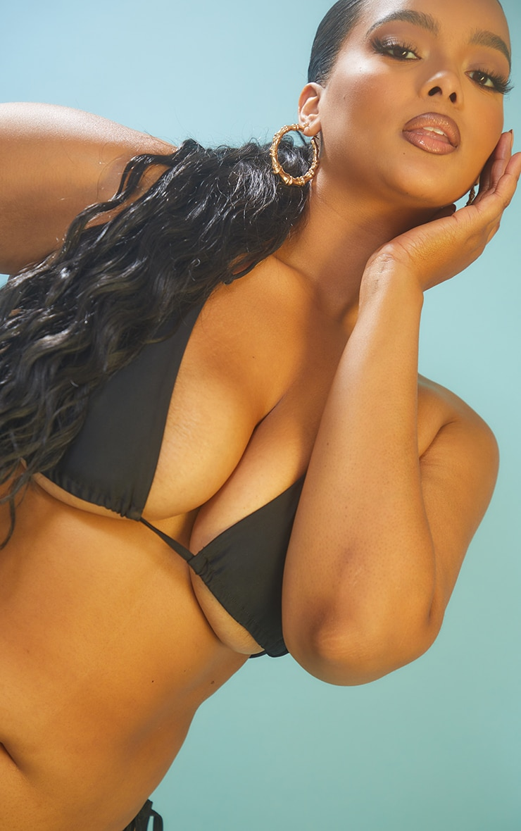 Recycled Plus Black Mix & Match Triangle Bikini Top 4
