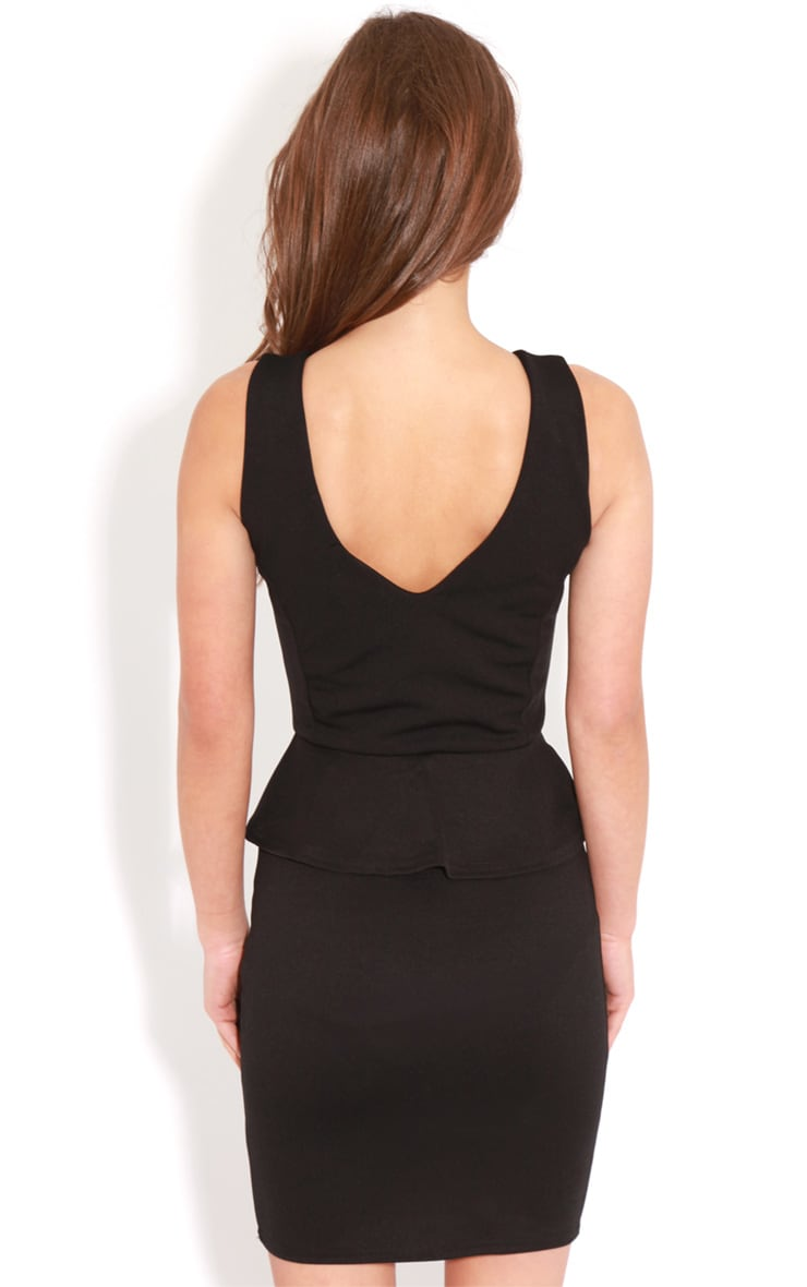 Rylie Black Peplum Dress 2