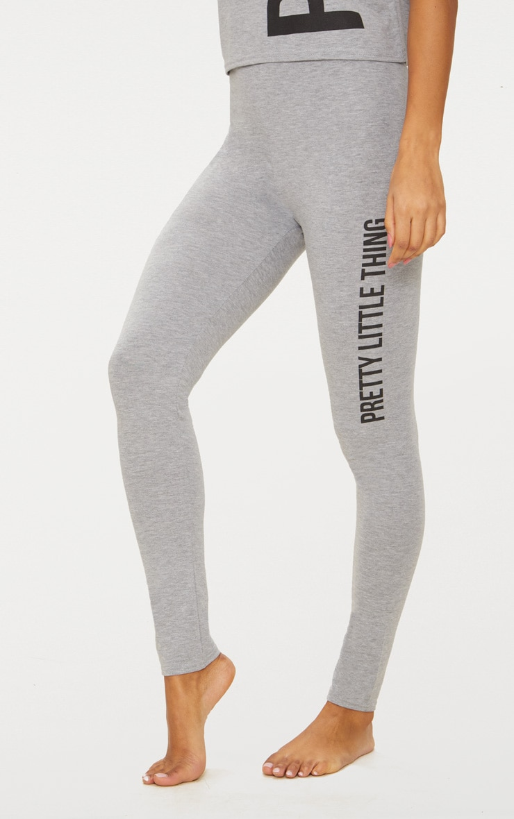 PRETTYLITTLETHING Grey Legging Pyjama Set 4